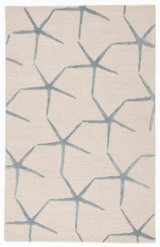 Jaipur Living Starfishing Handmade Animal White/ Blue Area Rug