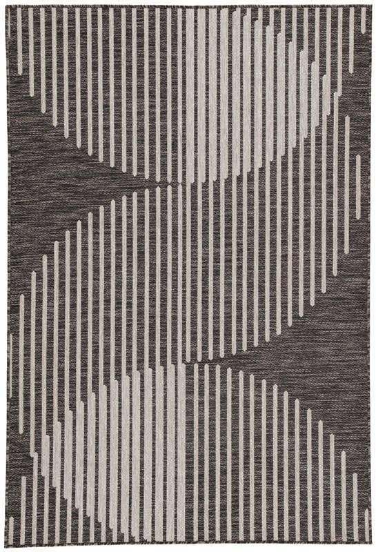 Nikki Chu By Jaipur Living Tangra Indoor/ Outdoor Geometric Dark Gray/ Silver Area Rug