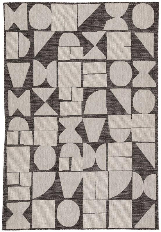 Nikki Chu By Jaipur Living Zulu Indoor/ Outdoor Geometric Dark Gray/ Silver Area Rug
