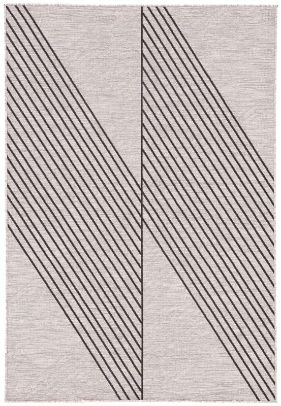 Nikki Chu By Jaipur Living Cyrene Indoor/ Outdoor Geometric Light Gray/ Black Area Rug