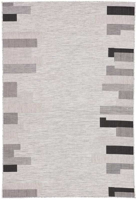 Nikki Chu By Jaipur Living Nikea Indoor/ Outdoor Geometric Light Gray/ Black Area Rug