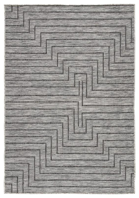 Nikki Chu By Jaipur Living Xantho Indoor/ Outdoor Geometric Gray Area Rug