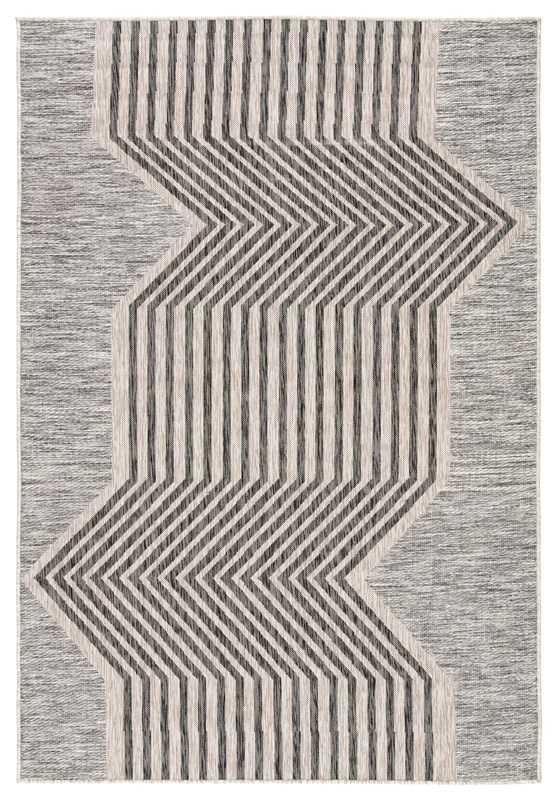 Nikki Chu By Jaipur Living Minya Indoor/ Outdoor Geometric Gray Area Rug