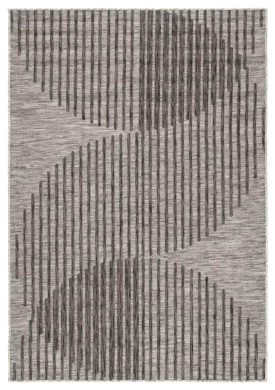 Nikki Chu By Jaipur Living Tangra Indoor/ Outdoor Geometric Gray Area Rug