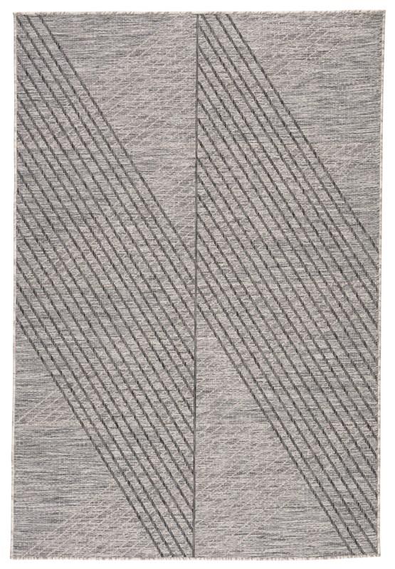 Nikki Chu By Jaipur Living Cyrene Indoor/ Outdoor Geometric Gray Area Rug