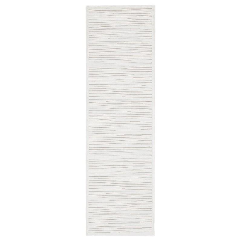 Jaipur Living Linea Abstract White Runner Rug