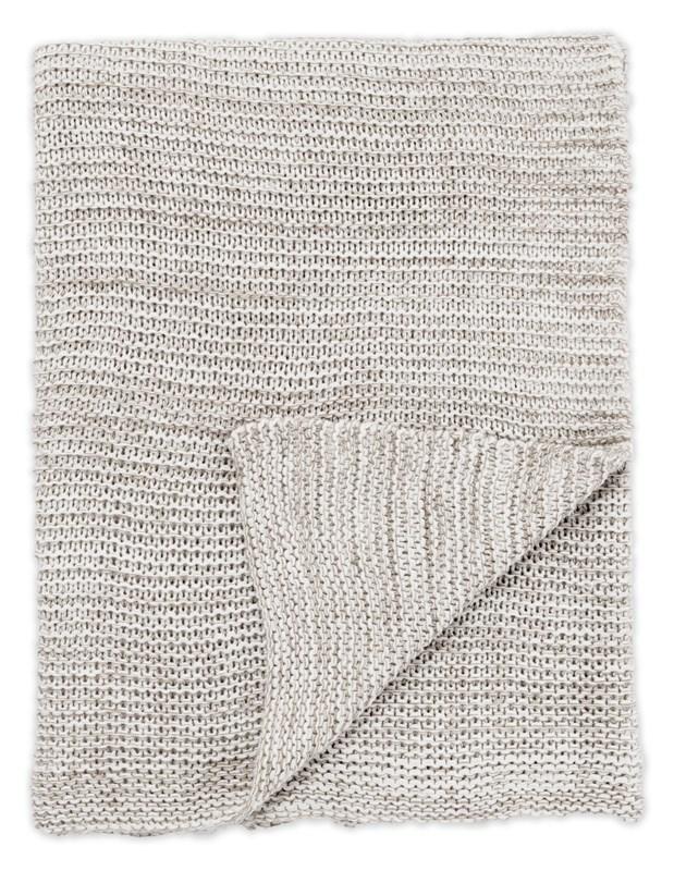 Jaipur Living Dryden Gray/ White Solid Throw