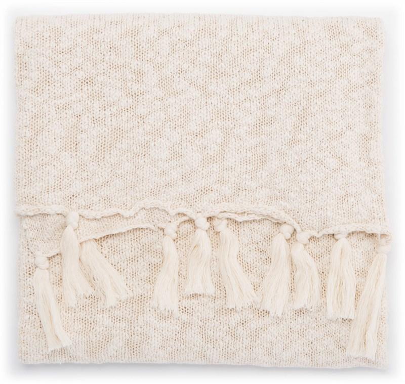 Jaipur Living Pacific Cream/ White Solid Throw