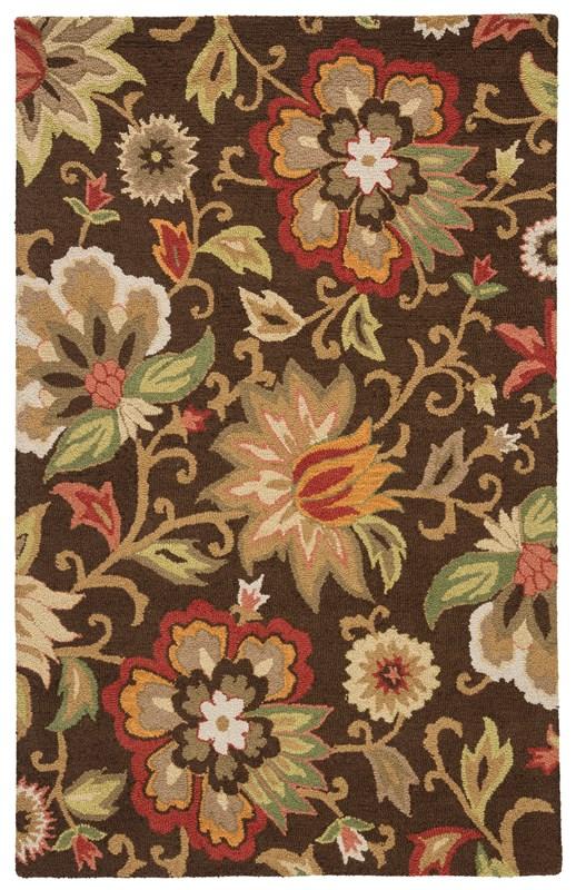Jaipur Living Zamora Handmade Floral Brown/ Multicolor Area Rug