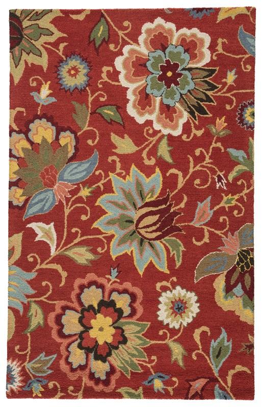 Jaipur Living Zamora Handmade Floral Red/ Multicolor Area Rug