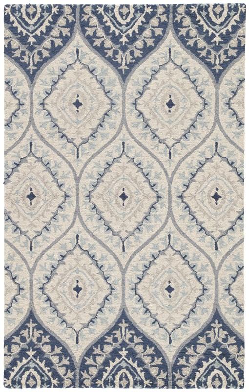 Jaipur Living Druid Handmade Trellis Blue/ Cream Area Rug