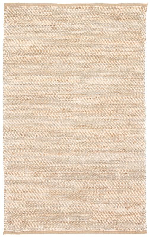 Jaipur Living Diagonal Weave Natural Solid Beige/ White Area Rug