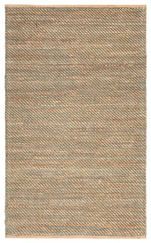 Jaipur Living Diagonal Weave Natural Solid Tan/ Green Area Rug
