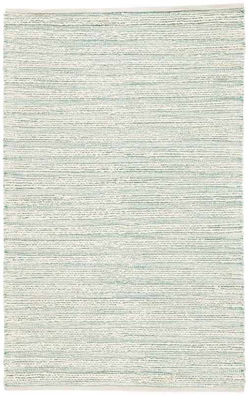 Jaipur Living Canterbury Natural Stripe White/ Turquoise Area Rug