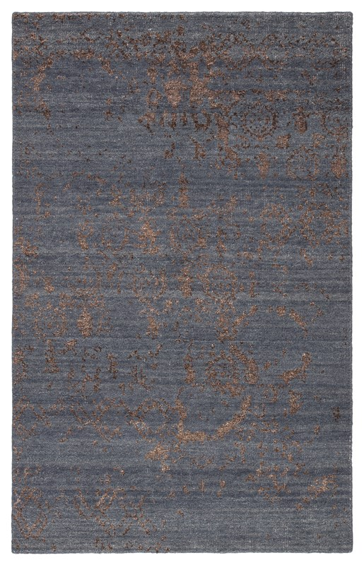 Jaipur Living Rou Hand-knotted Abstract Blue/ Brown Area Rug