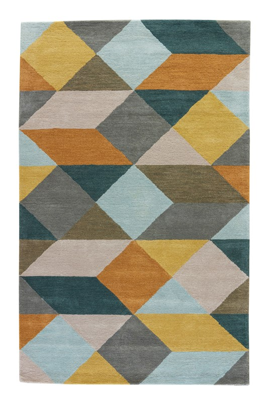 Luli Sanchez By Jaipur Living Ojo Handmade Geometric Gold/ Teal Area Rug