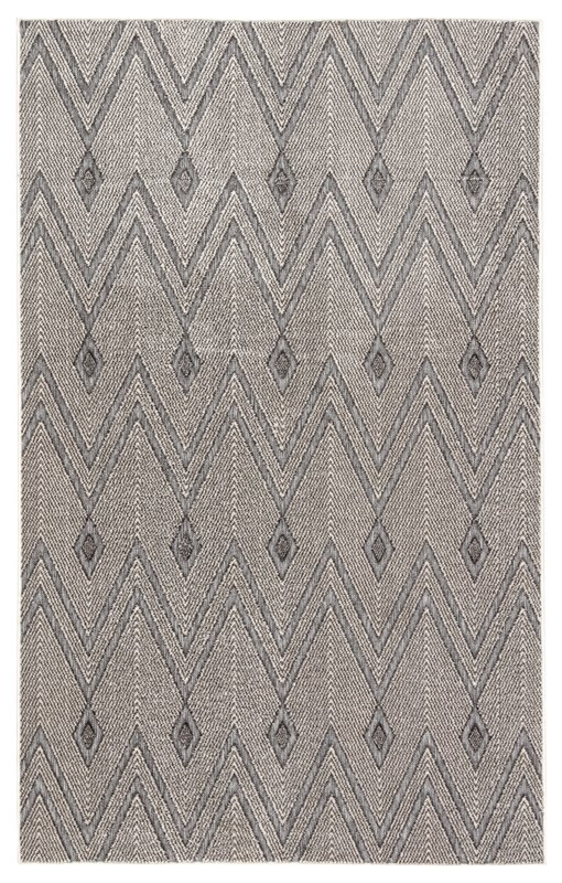 Jaipur Living Luz Indoor/ Outdoor Chevron Gray Area Rug