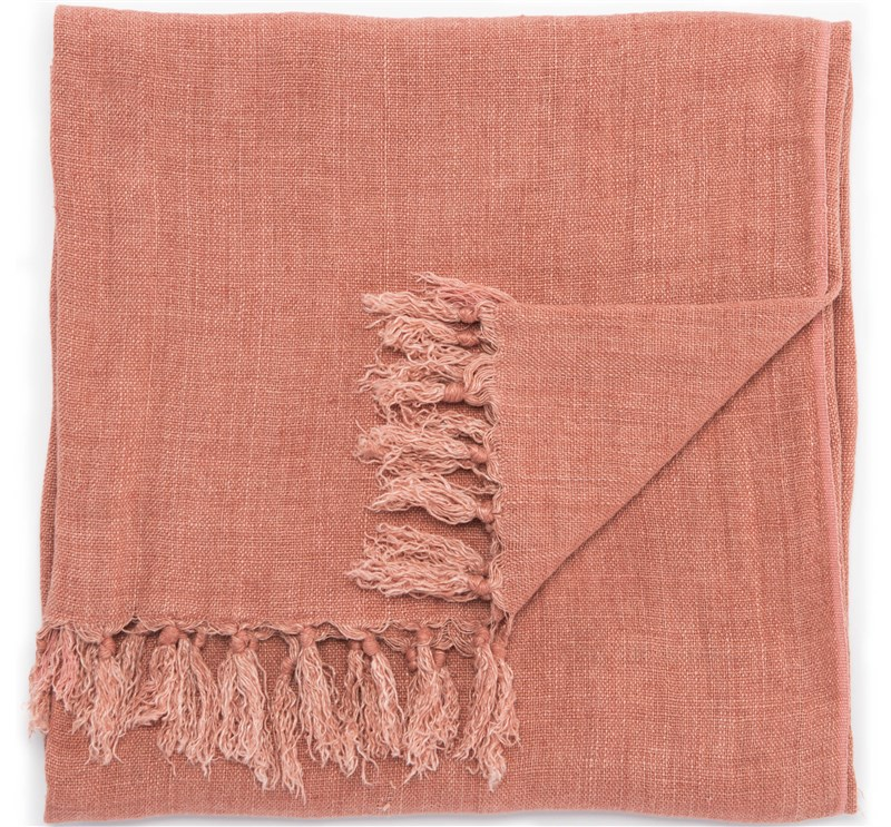Jaipur Living Lisabet Solid Pink Throw