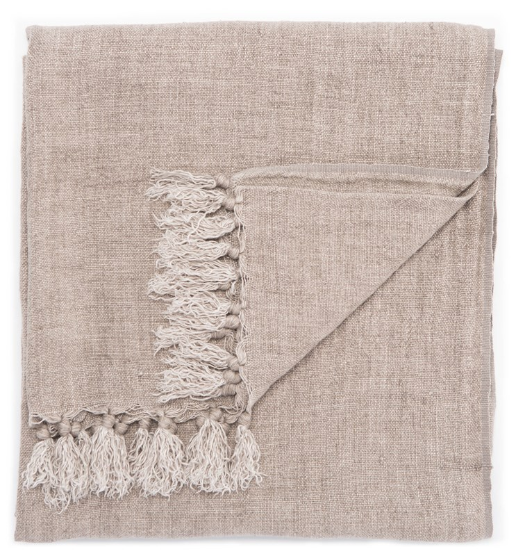 Jaipur Living Lisabet Solid Taupe Throw