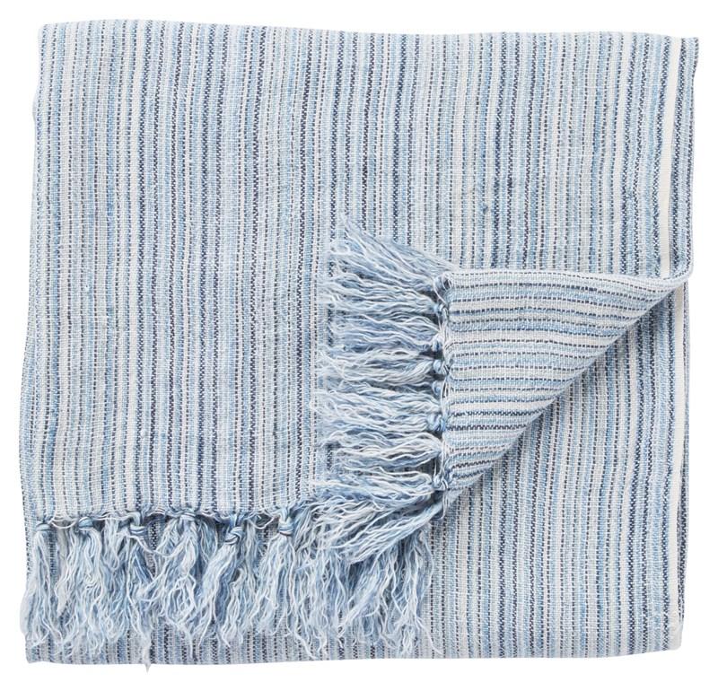 Jaipur Living Seafarer Stripe Blue/ White Throw
