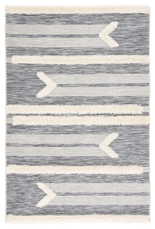 Jaipur Living Hanai Indoor/ Outdoor Tribal Gray/ Cream Area Rug