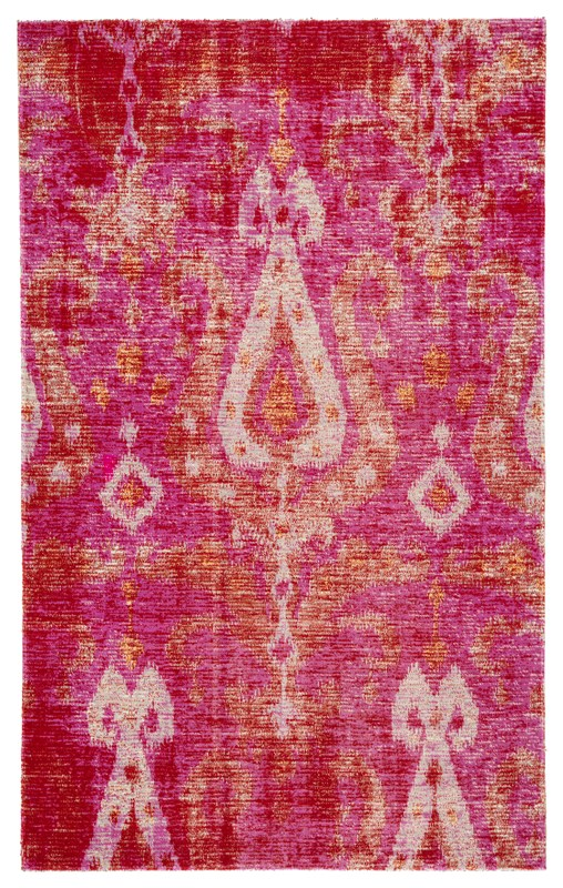 Jaipur Living Zenith Indoor/ Outdoor Ikat Pink/ Orange Area Rug