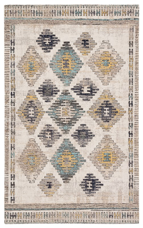 Jaipur Living Dez Indoor/ Outdoor Tribal Blue/ Yellow Area Rug