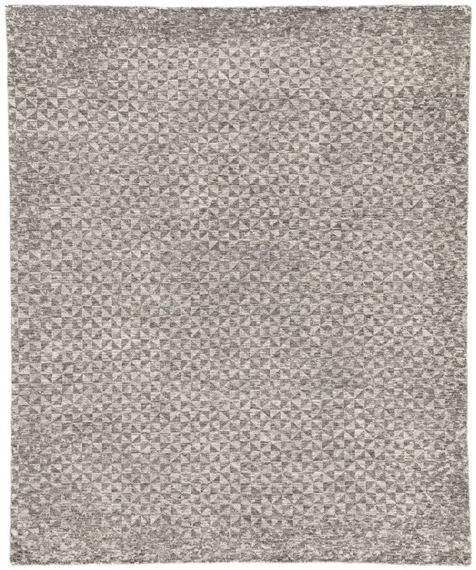 Jaipur Living Zaid Hand-Knotted Geometric Dark Gray/ Ivory Area Rug