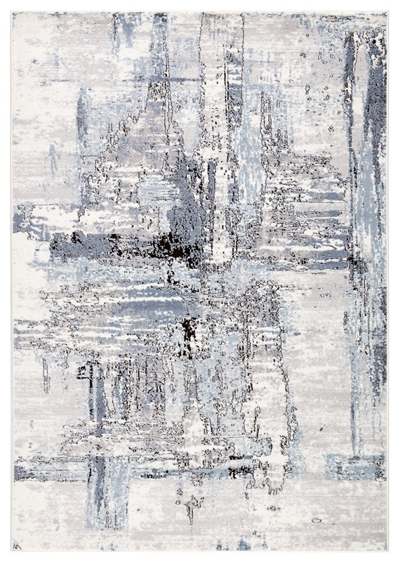 Jaipur Living Avi Abstract White/ Gray Area Rug
