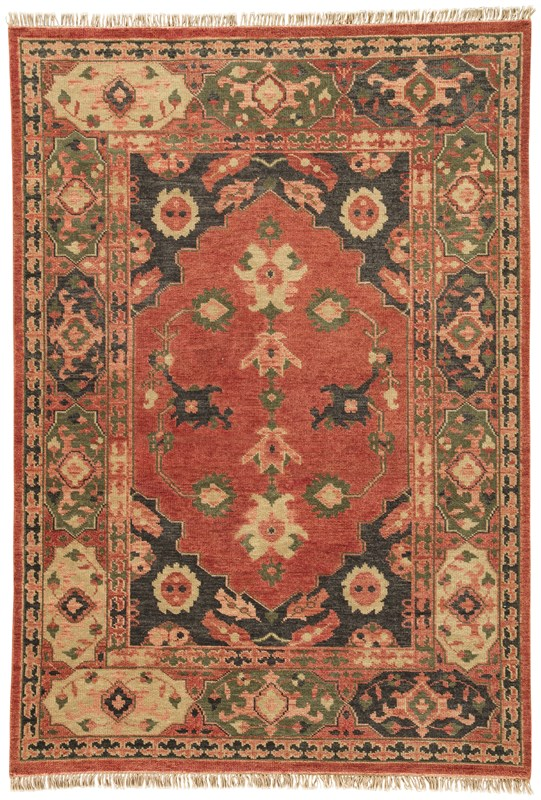 Artemis By Jaipur Living Azra Hand-knotted Floral Red/ Black Area Rug