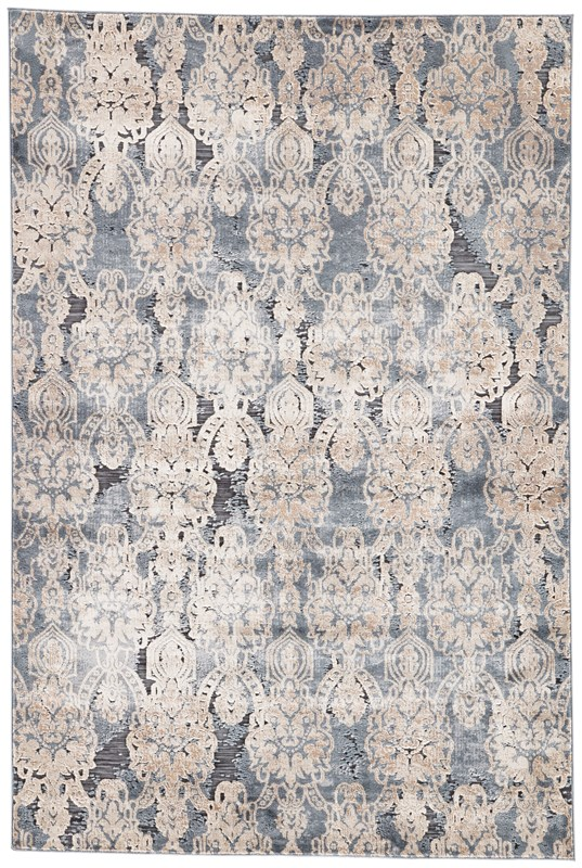 Jaipur Living Roz Damask Blue/ Beige Area Rug