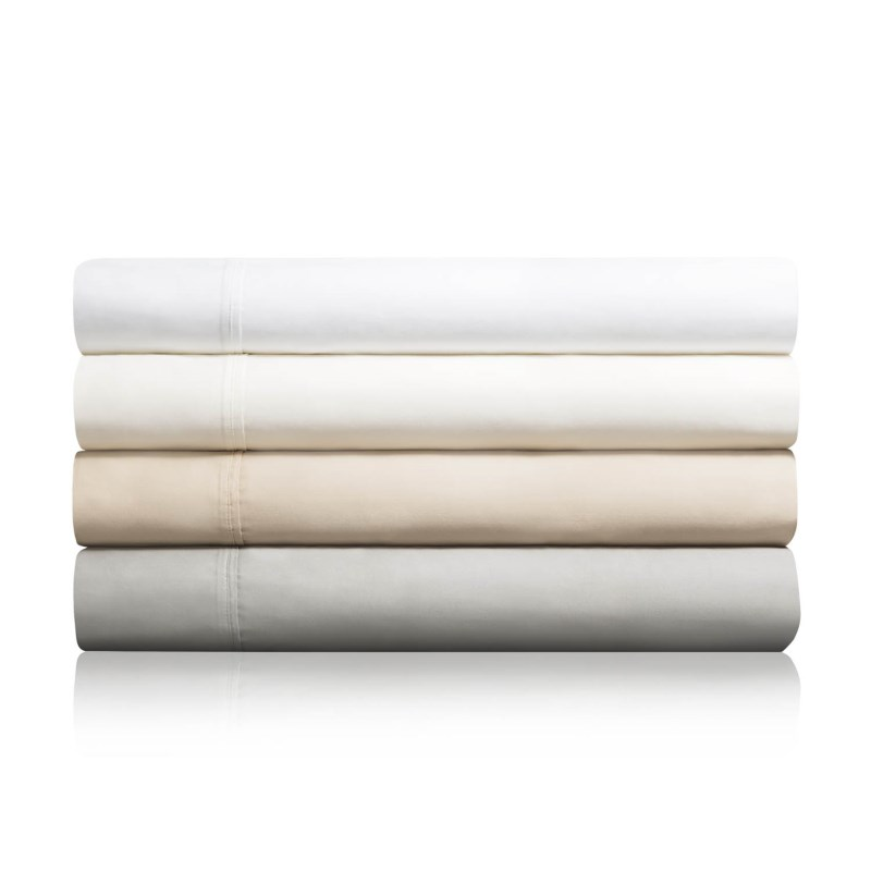 600 Tc Cotton Blend  Pillowcase Ivory