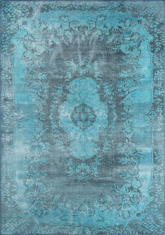Afshar Machine Made Blue Area Rugs