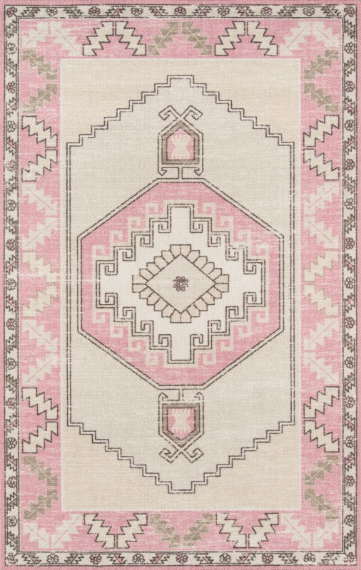 Anatolia Machine Made Pink Area Rugs