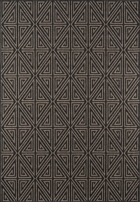 Baja Collection Egyptian Machine Made Charcoal Area Rugs
