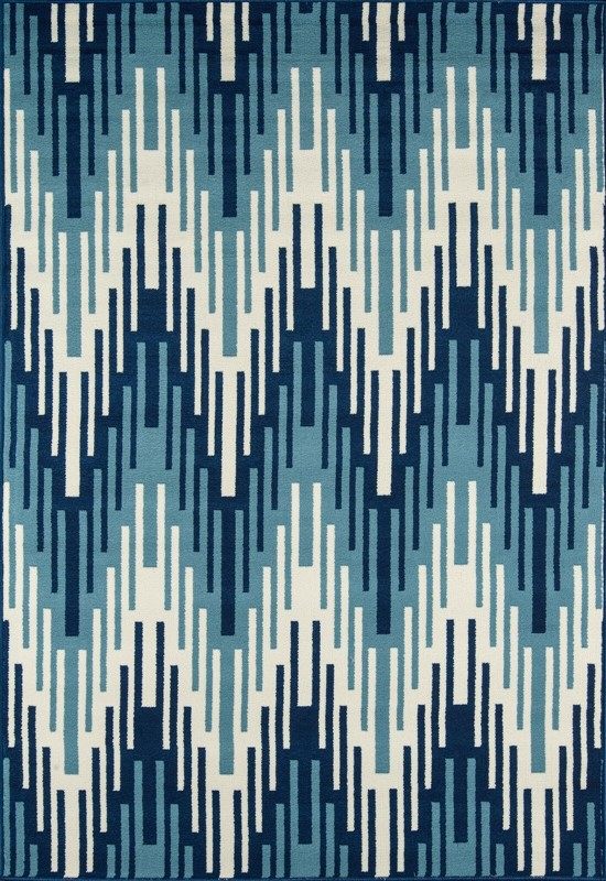 Baja Collection Egyptian Machine Made Blue Area Rugs