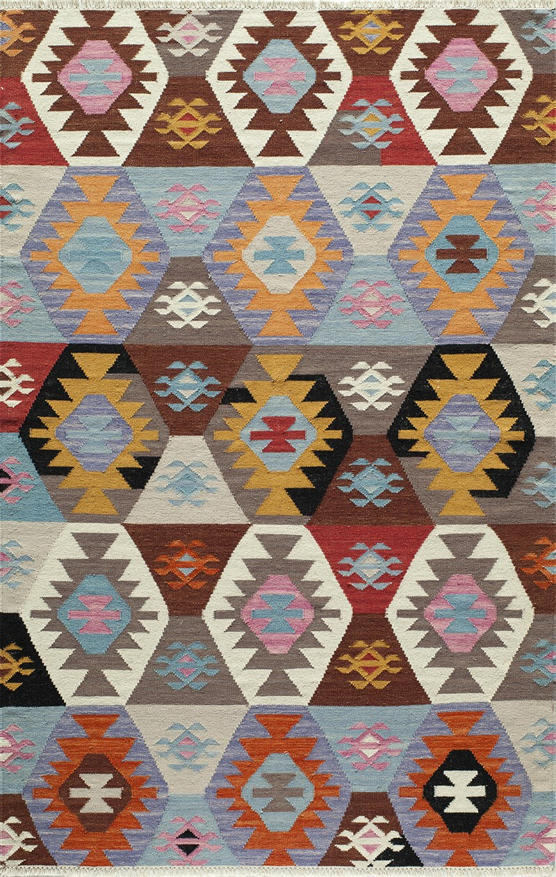 Caravan Collection Indian Hand Woven Multi Area Rugs