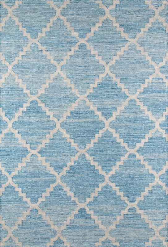 Caravan Collection Indian Hand Woven Blue Area Rugs
