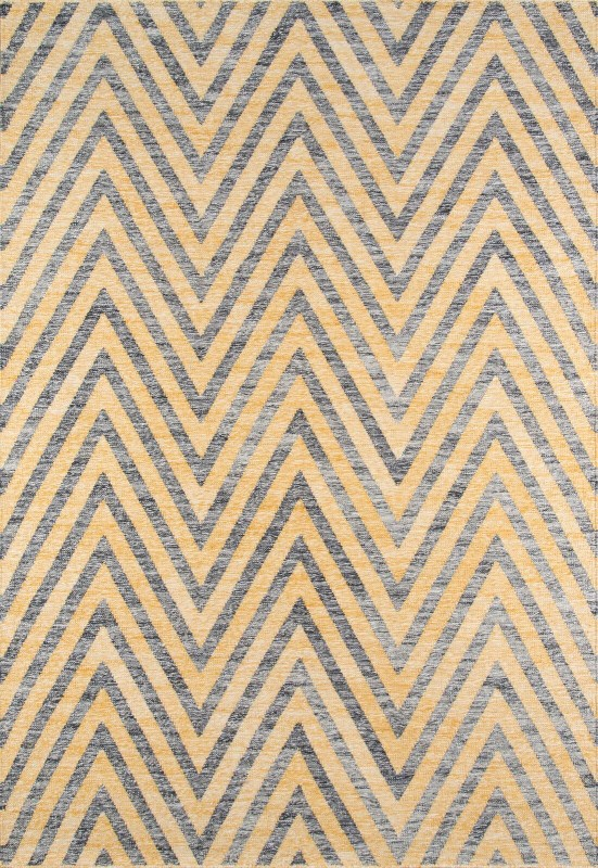 Caravan Collection Indian Hand Woven Yellow Area Rugs