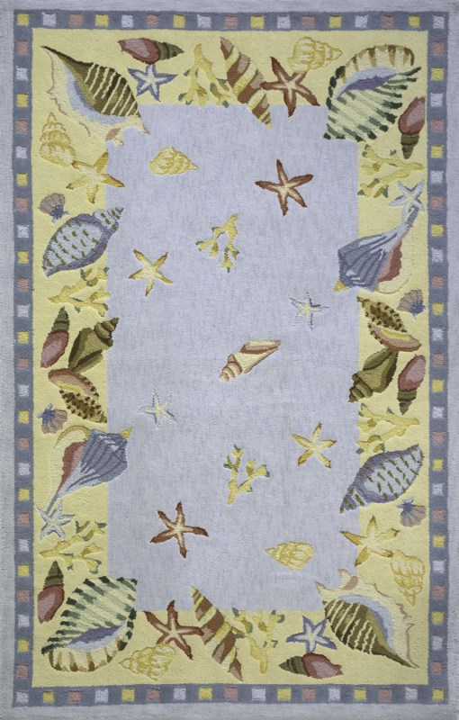 Coastal Collection Chinese Hand Hook L.blue Area Rugs