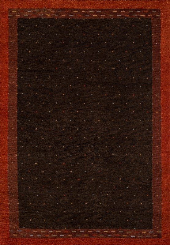 Desert Gabbeh Collection Indian Hand Knotted Brown Area Rugs