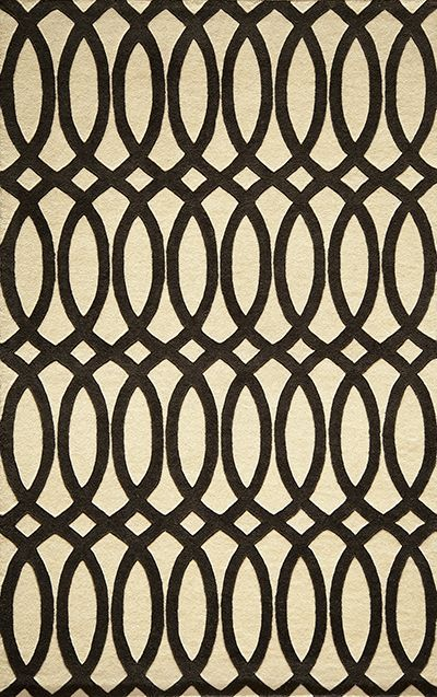 Delhi Collection Indian Hand Tufted Black Area Rugs