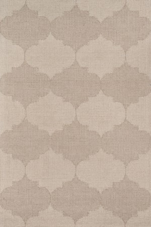 Delhi Collection Indian Hand Tufted Beige Area Rugs