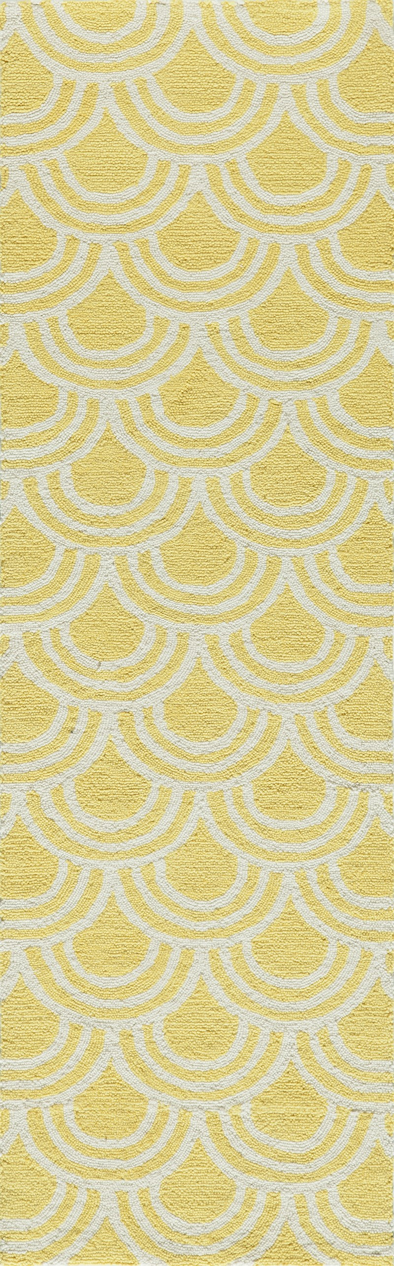 Geo Collection Chinese Hand Hook Yellow Area Rugs