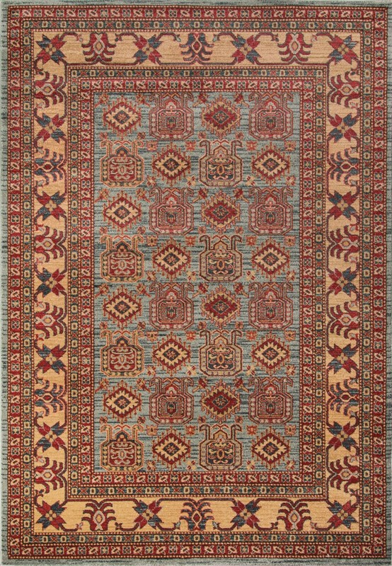 Ghazni Collection Turkish Machine Made L.blue Area Rugs