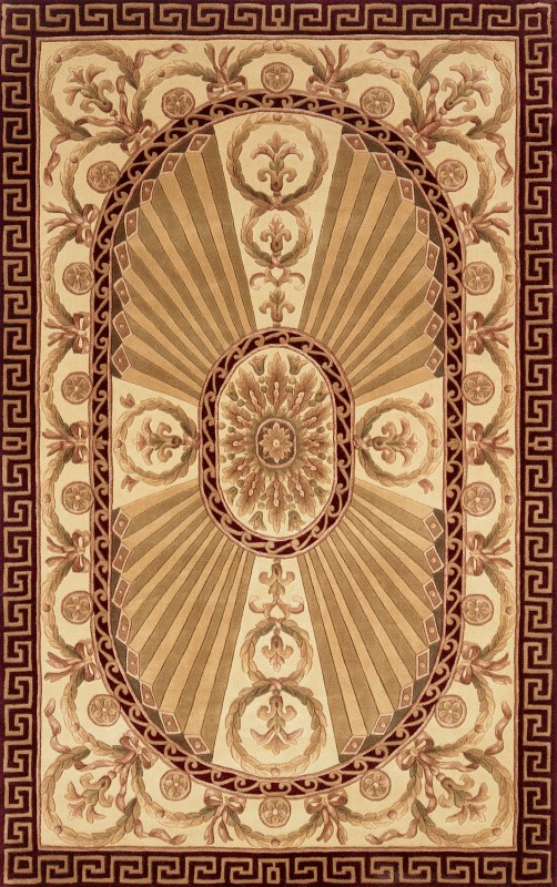 Harmony Collection Chinese Hand Tufted Burgundy Area Rugs
