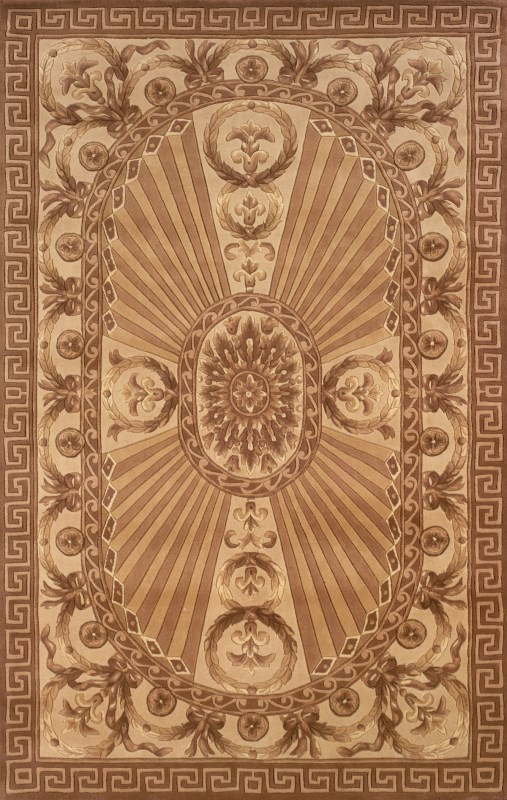 Harmony Collection Chinese Hand Tufted Lt.brown Area Rugs