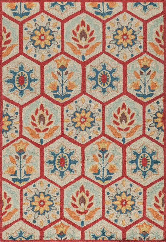 Havana Collection Chinese Hand Tufted Red Area Rugs