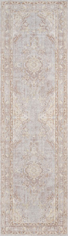 Isabella Machine Made Grey Area Rugs