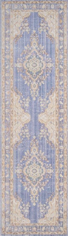 Isabella Machine Made Periwinkle Area Rugs